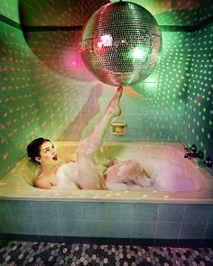 Disco Bubbles by Ben Ryan   One day I will have a bathroom with a disco ball!