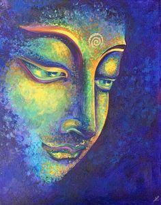 Easy Canvas Art, Acrylic Painting Canvas, Budha Art, Budha Painting, Buddha Drawing, Buddha Canvas, Spiritual Paintings, Oil Pastel Art, Shadow Art