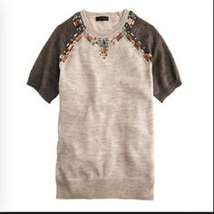⚡️J crew jeweled sweater tee Brand new with tags. Price firm even if bundled. J. Crew Sweaters