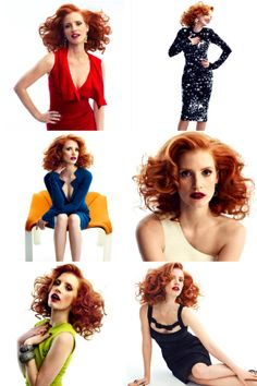 She has really big hair. It's filled with secrets!  Jessica Chastain.