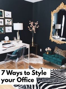7 Ways to Decorate and Style Your Office. My glam luxe office is finally complete!