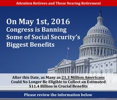 Social Security Benefit.The Bipartisan Budget Act hides a dirty secret that could cost Americans an estimated $11.4 billion