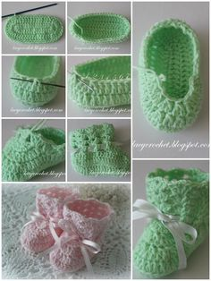 Lacy Crochet Baby Booties with Ribbon Bow - Top 40 Free Crochet Baby Booties Patterns
