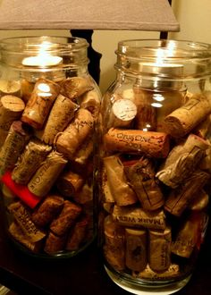 Wine Cork DIY - a more rustic approach to Wine Cork Candle holders! #DIY