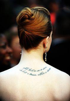 Evan Rachel Wood's tattoo.