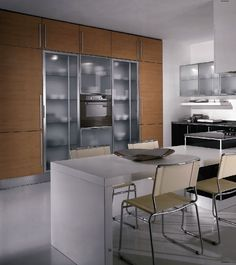 Modern kitchen cabinets from the Aran Cucine Miro Colours collection. Contemporary Kitchen Cabinets, Contemporary Kitchen Design, Kitchen Cabinet Doors, Kitchen Cupboards, Cherry Kitchen, Kitchen Dinning, Kitchen Collection, Cabinet Design, San Francisco