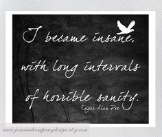 Edgar Allan Poe, Typography Wall Art