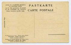 reverse, Latvian National Costumes Latvia Talsi 1926 A Cirulis Salamandra Riga Postcard