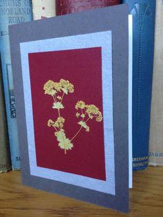Handmade Pressed Flower Card - Yellow Alchemilla £4.00