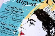 Reader's Digest: Front Cover & Feature Illustration The Krays, Hand Craft Work, Best Of British, Save The Queen, Art Director, Illustration, How To Apply, Lettering, Cover