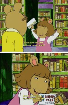 """She had an appreciation for books. 