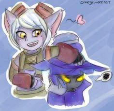 Veigar and Tristana by AlphaMeerkat