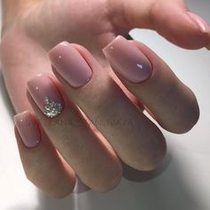 Fun bridal nails make up ideas Gelish Nails, Nude Nails, Acrylic Nails, Bridal Nails, Wedding Nails, Hair And Nails, My Nails, Nagellack Trends, Manicure And Pedicure