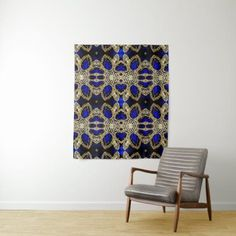 blue sapphire gemstone gold diamond rhinestone tapestry #RedHomeAccessories Royal Blue And Gold, Blue Gold, Sapphire Gemstone, Blue Sapphire, Red Home Accessories, Gold Glitter, Wall Tapestry, Gemstones, Tapestries