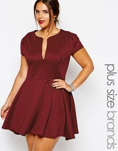 Order Club L Plus Size Scuba Skater Dress With Plunge Neck online today at ASOS for fast delivery, multiple payment options and hassle-free returns (Ts&Cs apply). Get the latest trends with ASOS. Club Dresses, Plus Size Dresses, Plus Size Outfits, Curvy Women Outfits, Clothes For Women, Curvy Fashion, Plus Size Fashion, Plus Size Clothing Sale, Divas