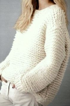 Knit Chunky Sweater Big Sweater Chunky Pullover Knit Chunky Jumper Women's Men's Clothing Oversized Sweater Made to Order Klobige Pullover stricken großen Pullover Damen von GrahamsBazaar. Moda Crochet, Knit Crochet, Looks Style, My Style, Hand Knitting, Knitting Patterns, Autumn Winter Fashion, Sweaters For Women, Casual
