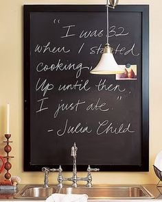 "Great quote from Julia Child - ""I was 32 when I started cooking, up until then I just ate."""