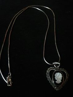 Sterling Silver, Onyx, Marcasite, Mother of Pearl Cameo Pendant with Chain 925 | Jewelry & Watches, Vintage & Antique Jewelry, Fine | eBay!