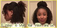 This is a short video on a few different ways I style my wash and go between wash days. All the styles you see here are really simple because I like to keep ...