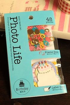 This is super cute Japanese Photo Scrap-booking Decorative Frame Label Seal Flake.Perfect for decora…