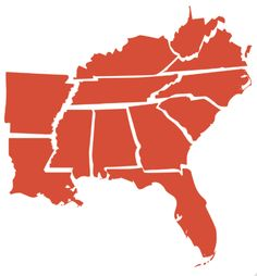 although what is West Virginia doing on a map of the south? (this.)