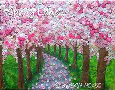 """""""Spring Lane"""" painted mourning the colours of spring and visiting Ipswich park,"""