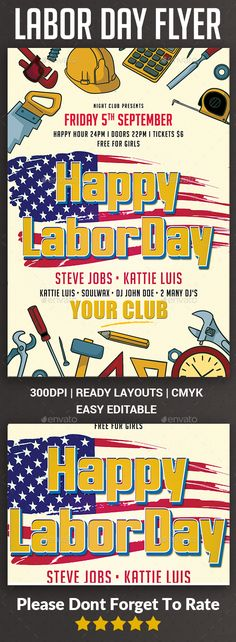 Magic Performer Flyer Bundle Glow, Classy and Illusions - labour day flyer template