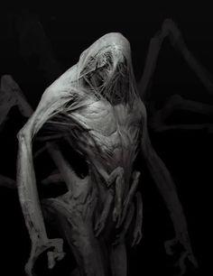 "artissimo: "" creeper monster by anthony jones Expose 2 "" Alien Concept Art, Creature Concept Art, Creature Design, Dark Creatures, Alien Creatures, Fantasy Creatures, Monsters Rpg, Horror Monsters, Monster Design"