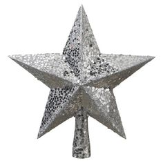 Add a touch of sparkle to the top of your holiday tree with this glittering star, perfect paired with rich red cranberry garlands and lush greenery....
