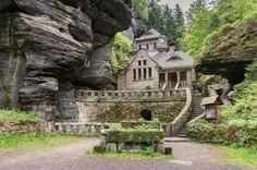 The secret rock house in Hrensko, Czech Republic