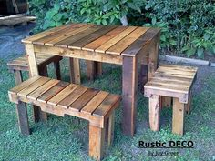 Rustic Pallets Tables and Benches