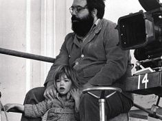 Francis Ford Coppola and Sofia on the set of The Godfather II, 1974, Trieste, Italy (©1974 Paramount Pictures Corporation and the Coppola Company)