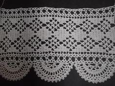 Barradinho croche!! - Faniquito  diagram for filet edge