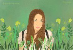 #painting #wacom #digital #digitalart #digitaldrawing #digitalillustration #illustration #green #plants #portrait #girlportrait Illustration Girl, Digital Illustration, Green Theme, Green Plants, Digital Art, Portrait, Painting, Fictional Characters, Illustrations