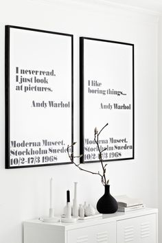 Andy Warhol Poster Prints & Frame from King & McGaw