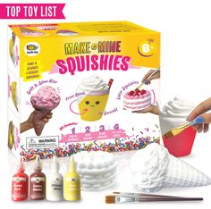 Arts and Crafts for Girls. DIY Dessert Paint Your Own Squishies Kit! Gifts for Craft Lovers ages 4 6 7 8 9 10 Top Christmas 2019 Toys. Box Includes Large Slow Rise Squishies, and Fabric Paint Colors Crafts For Girls, Toys For Girls, Top Christmas Toys, Christmas 2019, Paw Print Art, Party Kit, Arts And Crafts Projects, Diy Projects, Craft Party