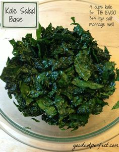 Kale Salad - thai inspired.  VERY YUM