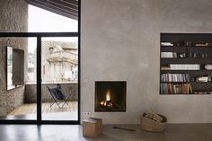 I love the inwall Fireplace and Bookcase... just makes me want to grab a paperback and get cozy!