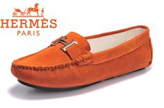 Hermes Ladies Moccasin Orange