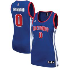 Andre Drummond Detroit Pistons adidas Women s Road Replica Jersey - Royal 4017f29d3
