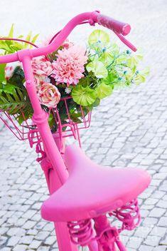 Pink Bicycle Photograph  - Carlos Caetano