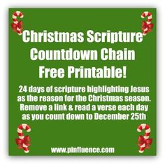 Scripture Count Down Chain