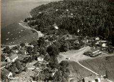 Buskerud fylke Hurum kommune Rødtangen flyfoto Utg Harstad forlag 1950-tallet