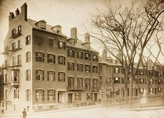 Louisburg Square in the 1850's. Today this is one of the best addresses in the city, home to such notables as Senator John Kerry