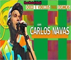O cantor e compositor Carlos Navas faz show especial para os pequenos no CEU Cidade Dutra no dia 18 de novembro, a partir das 15h, com entrada Catraca Livre.