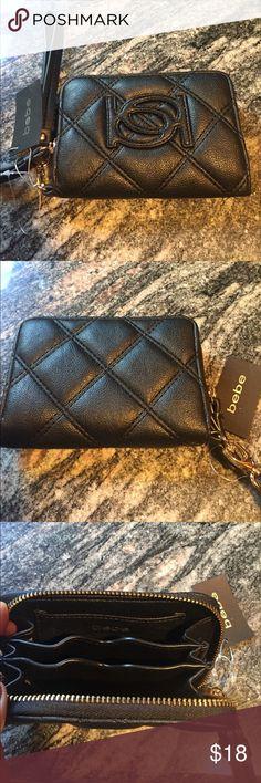 Bebe wristlet wallet NWT color black Bebe wristlet wallet NWT color black bebe Bags Clutches & Wristlets