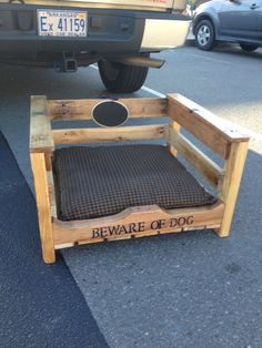 Dog bed made from pallet wood