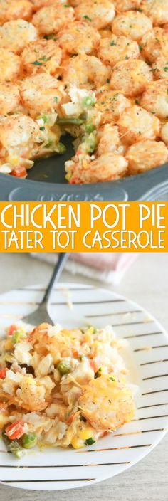 Love Chicken Pot Pie? Love Tater Tot Casserole? Then you'll LOVE this Chicken Pot Pie Tater Tot Casserole. So delicious and so easy to make.