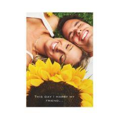 Beautiful Elegant Sunflower Wedding Save the Date Custom Invite from Zazzle.com