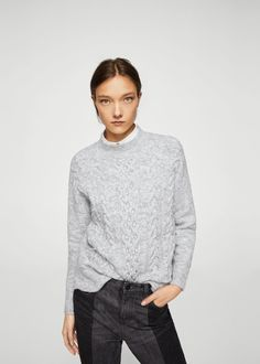 Pearls knitted sweater - Woman | MANGO Albania